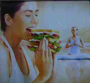 yoga and ham sandwich?