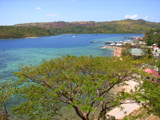 overlooking the Culion town