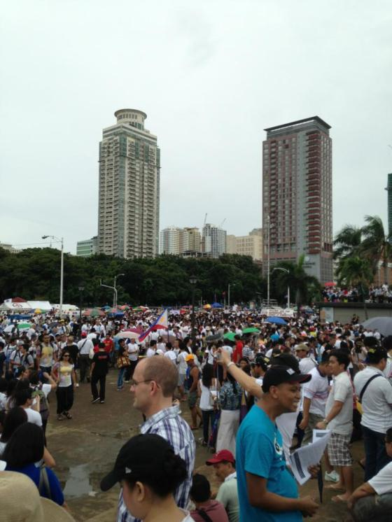 August 26 Million People's March at the Rizal Park (photo by Jon Cagas, grabbed from his FB account)